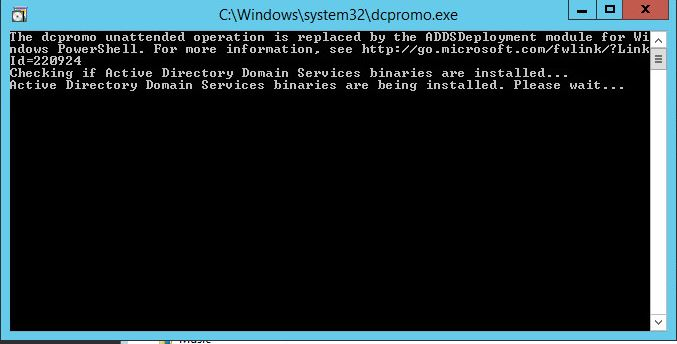 Active Directory with answer file