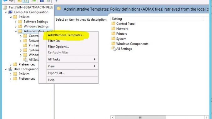 Add ADMX or ADM file to Group Policy 3