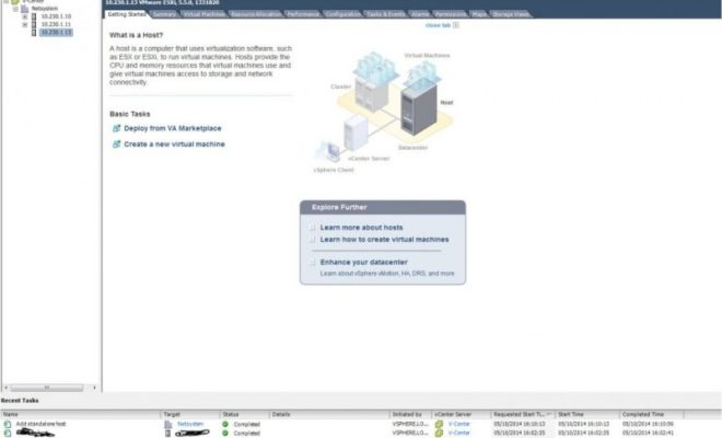add Host virtual center