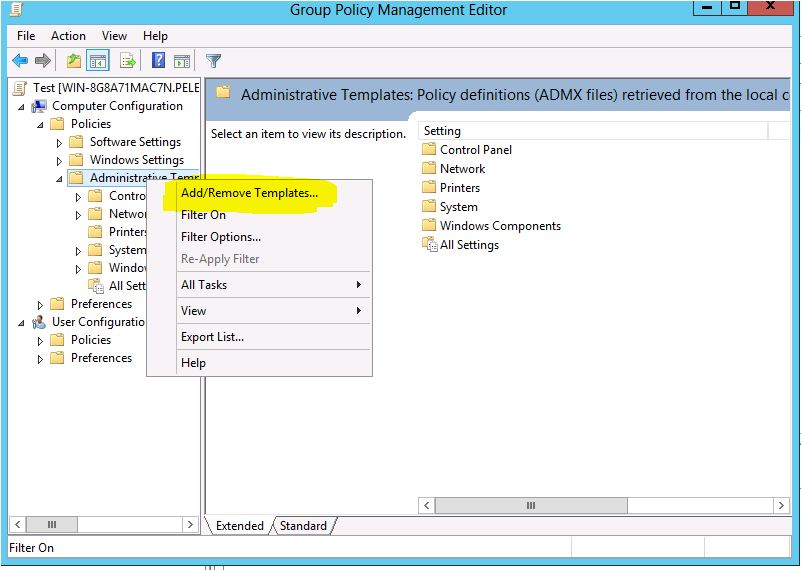 Office Group Policy Templates Add ADMX Or ADM File To Group Policy