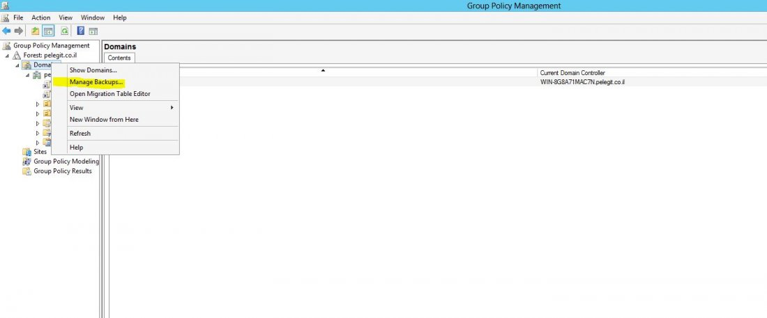 Backup Group Policy