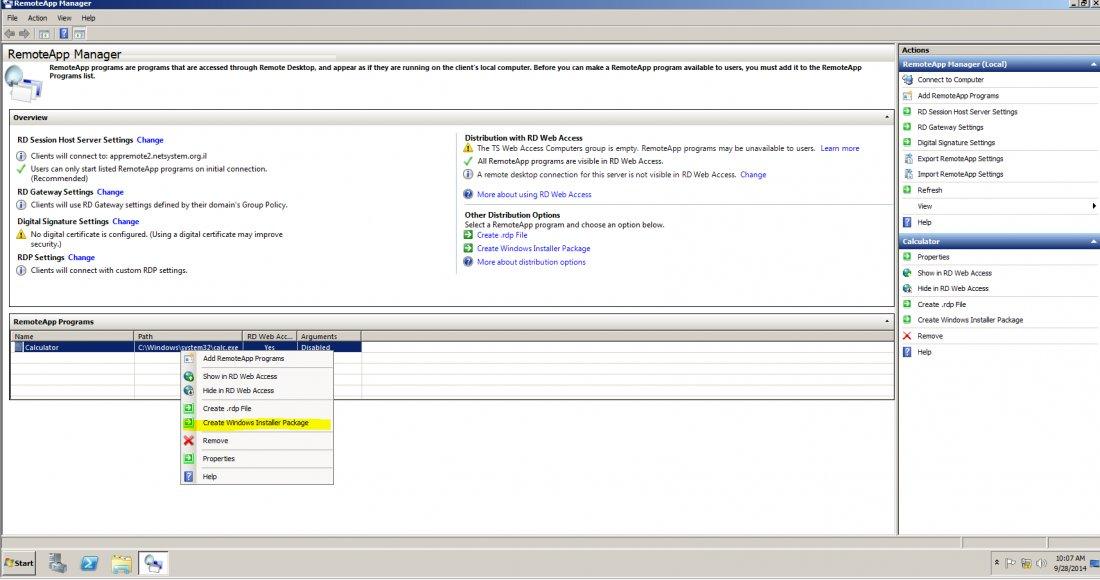 Create Windows Installer Package