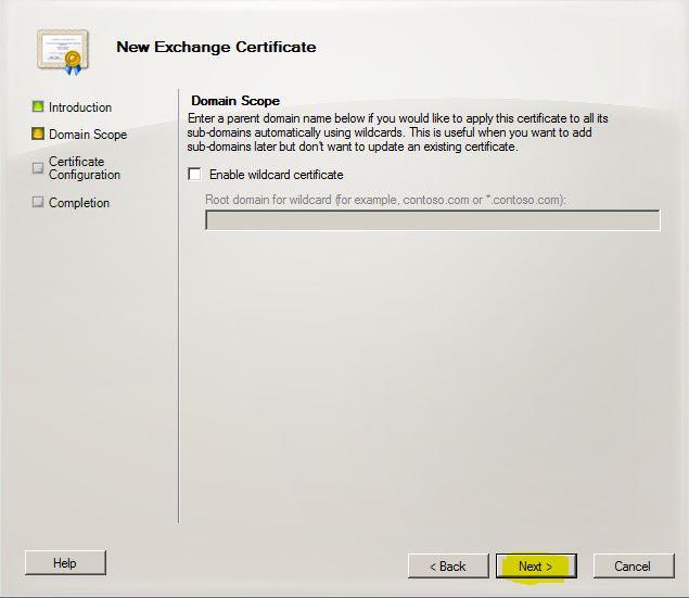 Exchange Certificate