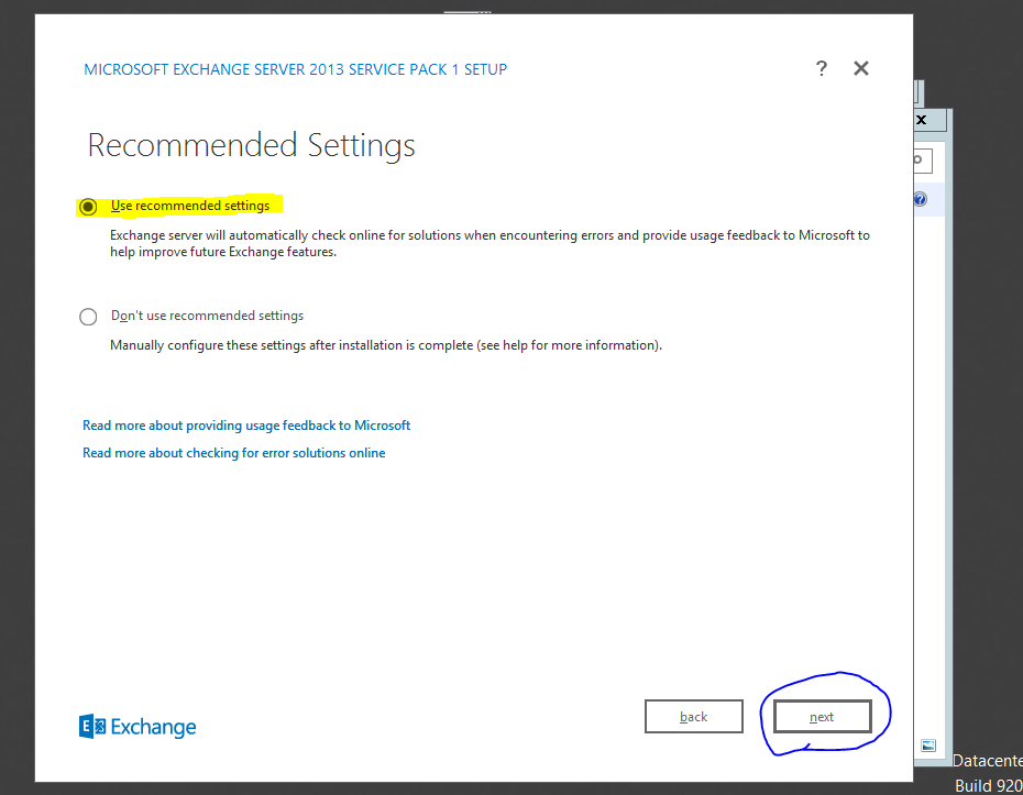 Install Exchange 2013