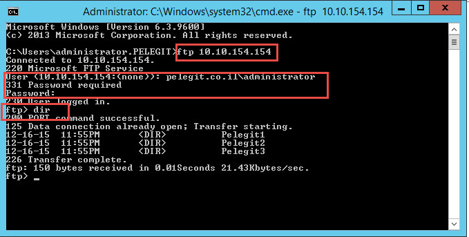 install FTP on windows server 2012R2