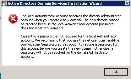 The local administrator account becomes the domain administrator