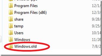 remove Windows.old