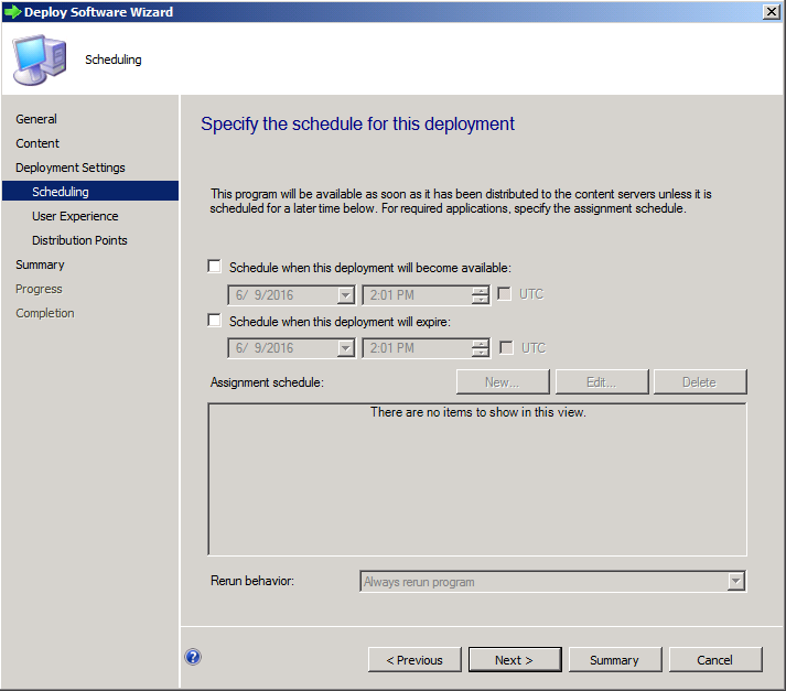 Deploy Software EXE SCCM