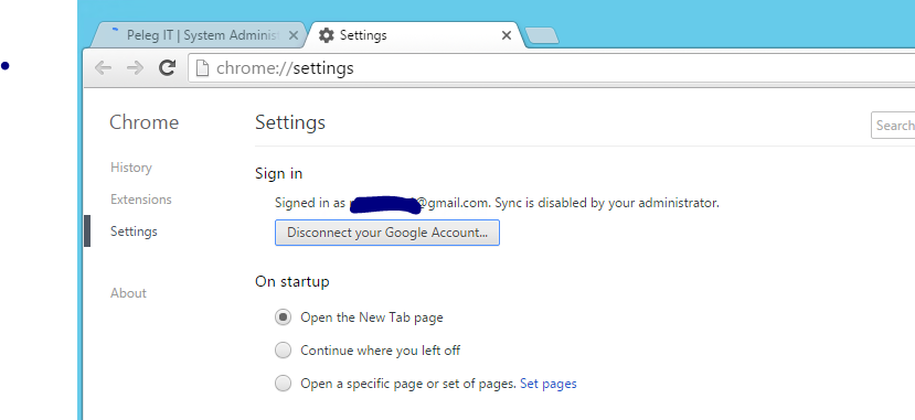 Sync Chrome Disable