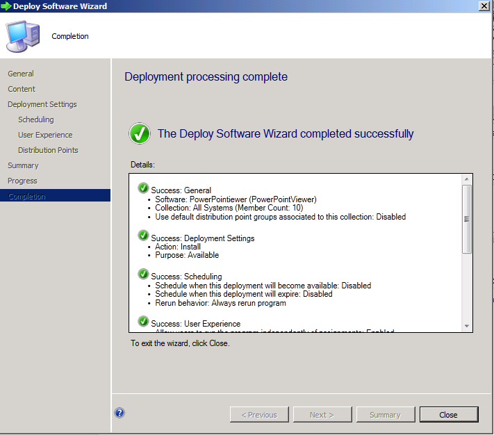 step by step install EXE via SCCM