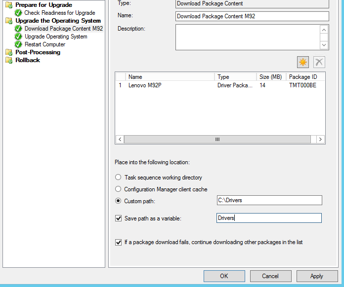 Deploy In-Place Windows 10 via SCCM