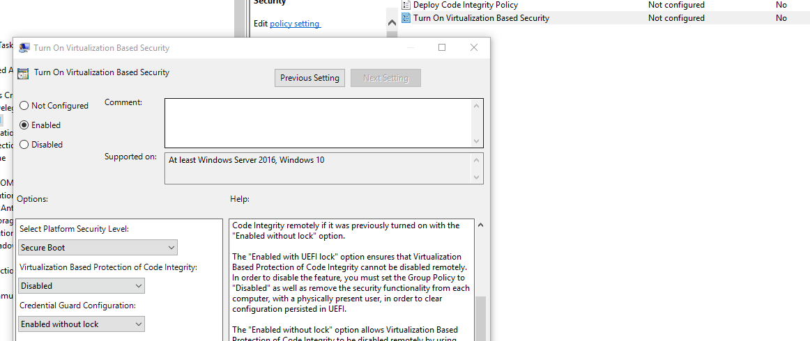 Credential Guard Windows 10
