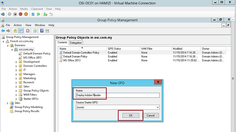 How to install client software from Windows Server 2012 R2 using Group Policy 2