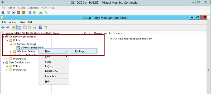 How to install client software from Windows Server 2012 R2 using Group Policy 4
