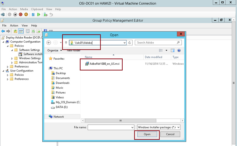 How to install client software from Windows Server 2012 R2 using Group Policy 5