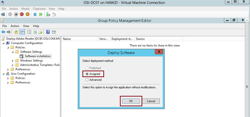 How to install client software from Windows Server 2012 R2 using Group Policy 6