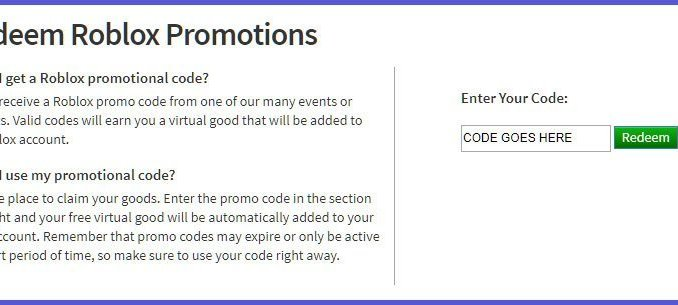 Latest Free Roblox promotion codes List Clothes Items for 2021
