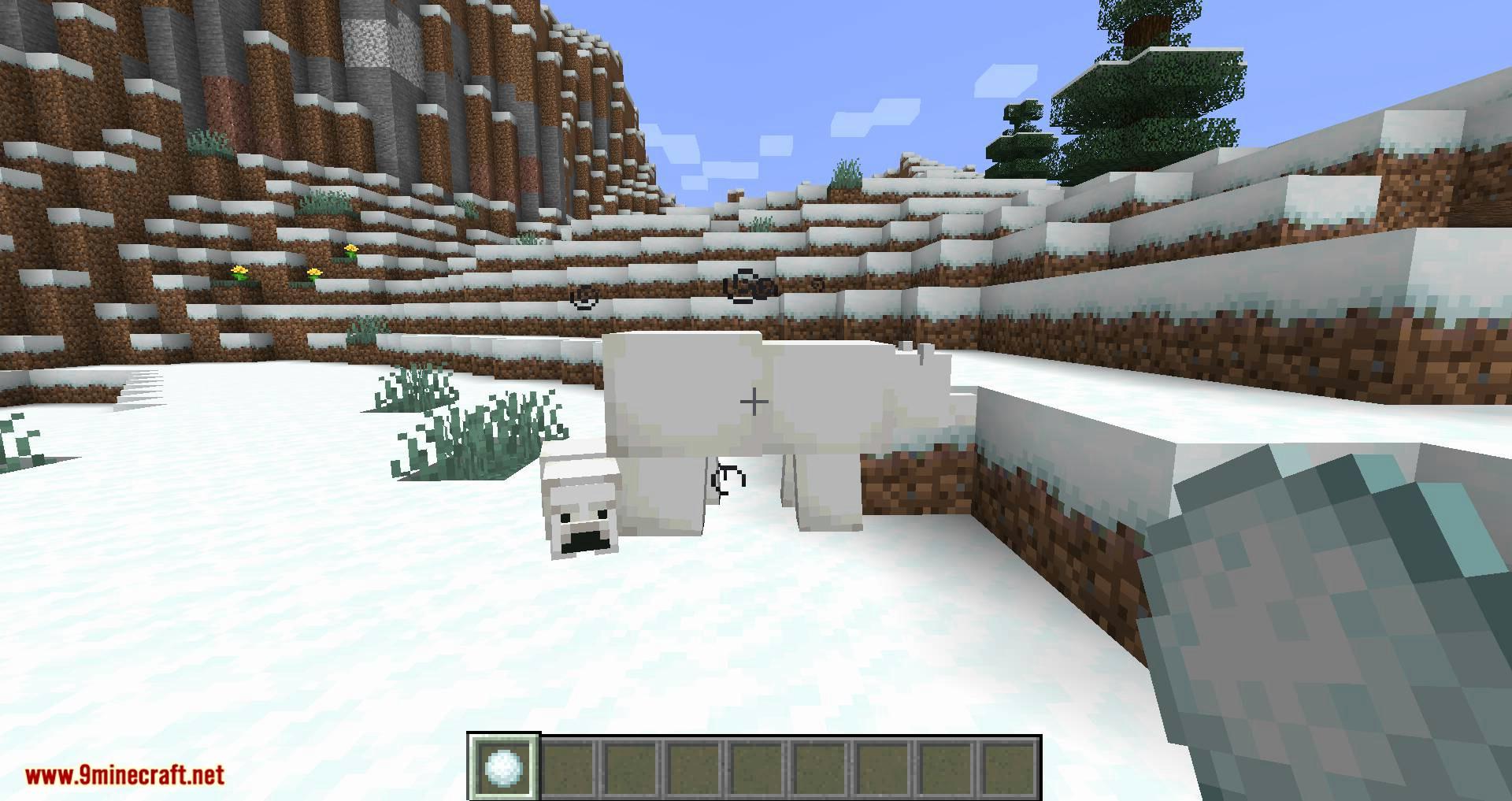 Snowballs Freeze Mobs mod for minecraft 03
