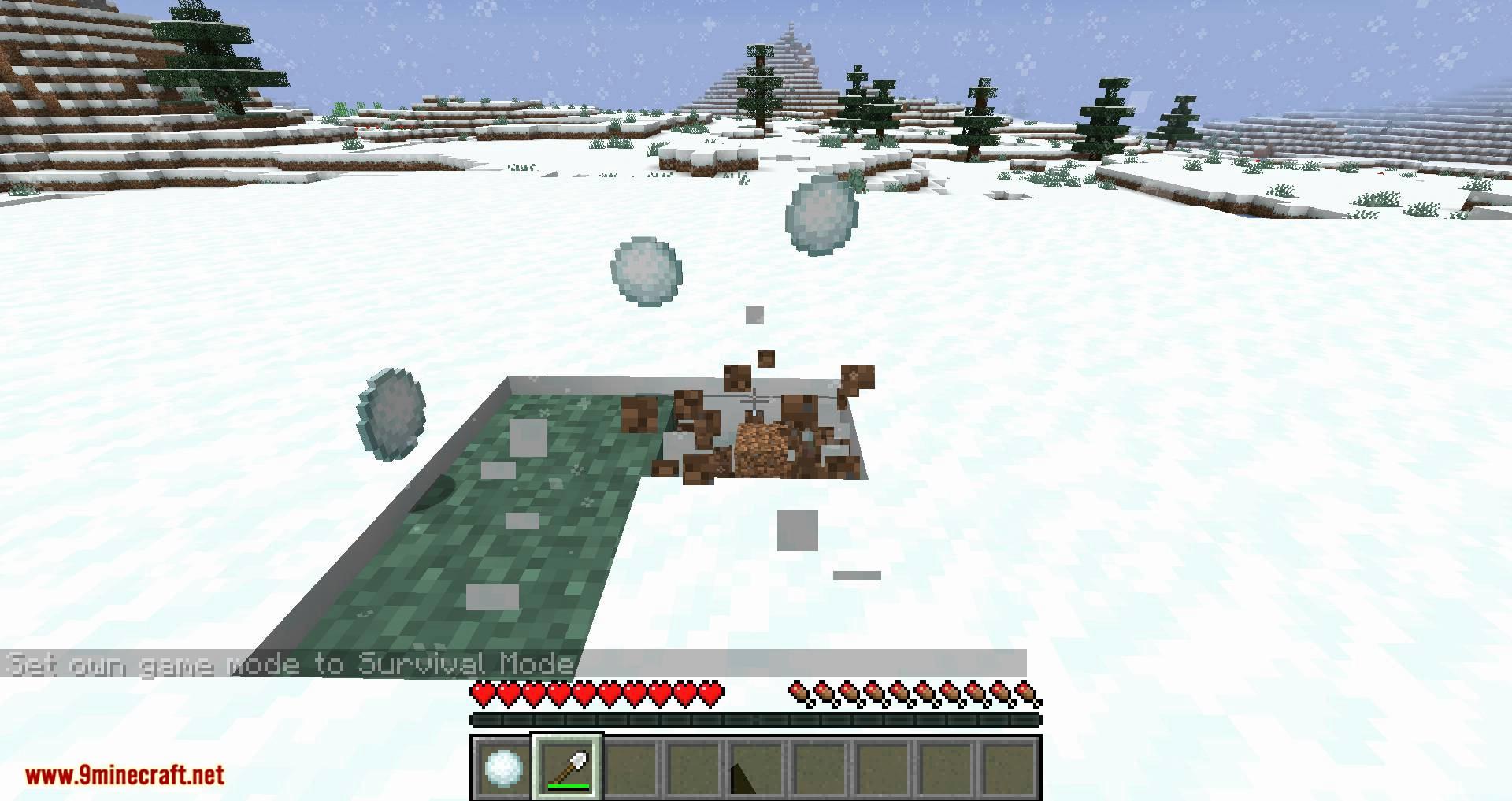 Snowballs Freeze Mobs mod for minecraft 04