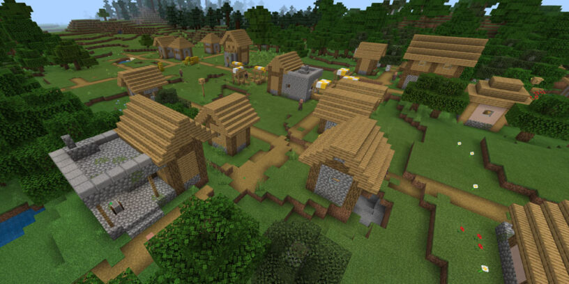 Double Blacksmith Near Coral Reef Seed - Top 10 Best PE Seeds 1.16.5 for Minecraft | Best Pocket Edition seeds