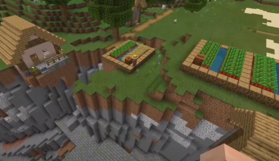 Stronghold Ravine Village at Spawn - Top 10 Best PE Seeds 1.16.5 for Minecraft | Best Pocket Edition seeds