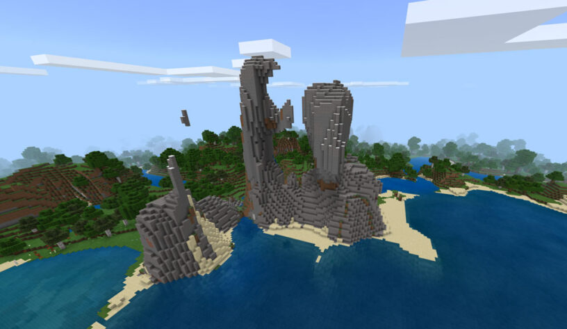 Natural Sculpture Seed - Top 10 Best PE Seeds 1.16.5 for Minecraft | Best Pocket Edition seeds