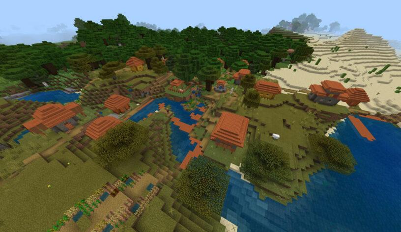 Savanna Village Overlapping w/Dark Oak Forest