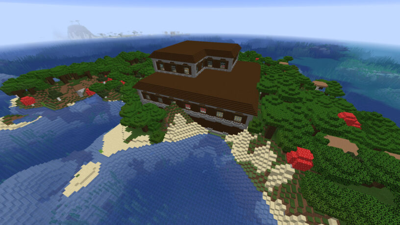 The Island Mansion - Top 8 Best Java Seeds 1.16.5 for Minecraft in 2021
