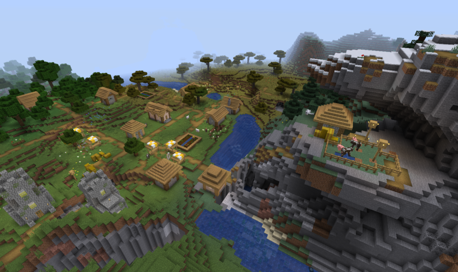 Three Villages and 10 Biomes at Spawn