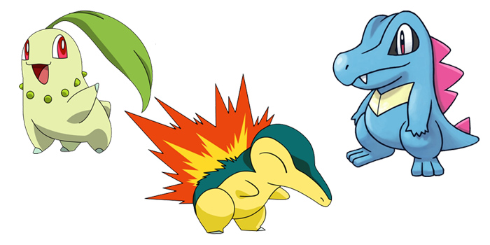 All Starters Pokemon by Generation 2
