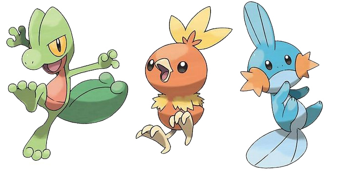 All Starters Pokemon by Generation 3