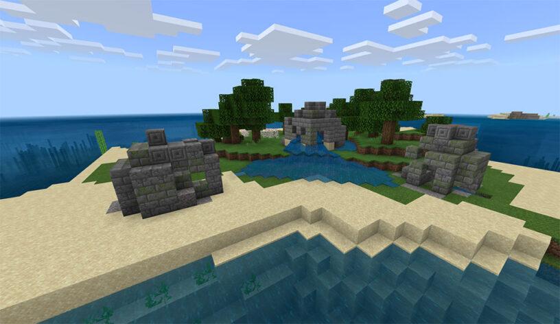 Top 6 Best Bedrock Survival Island Seeds 1.16.5 for Minecraft in 2021 - Three Ruin Island Seed