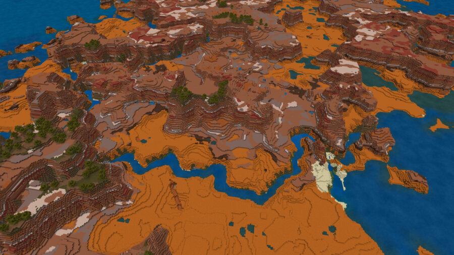 Top 6 Best Bedrock Survival Island Seeds 1.16.5 for Minecraft in 2021 - Badlands Island Seed