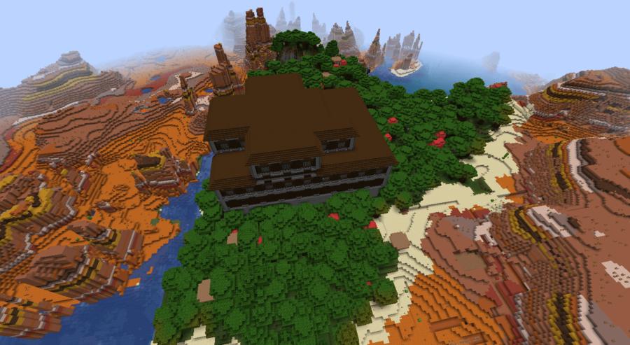 Mansion Oasis - Top 7 Best Java Woodland Mansion Seeds 1.16.5 for Minecraft in 2021