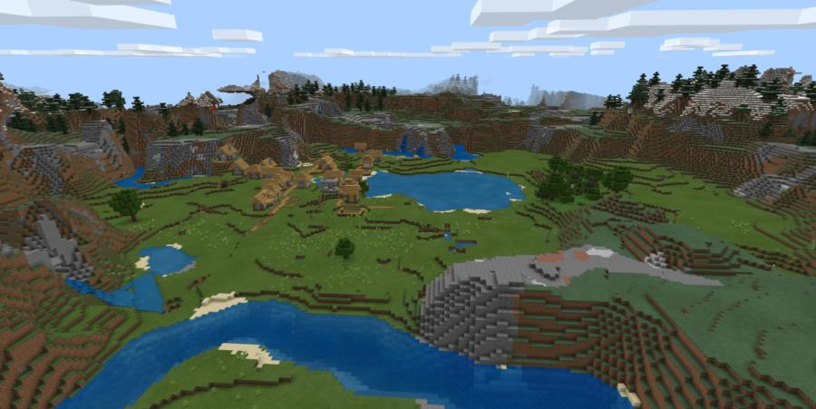 Village Valley - Top 8 Best Minecraft Bedrock Seeds 1.16.5 (May 2021)