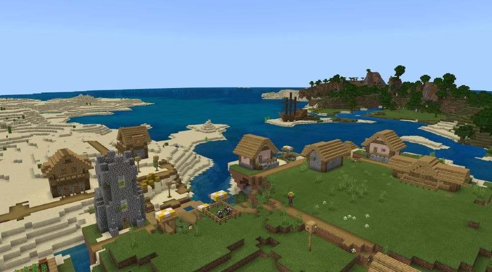 Top 5 Best Bedrock Seeds 1.17 for Minecraft in 2021 - A Town of Pirates