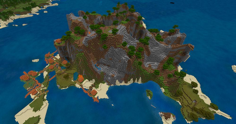 Gulla Gulla Island - Top 5 Best Bedrock Island  Seeds 1.17.1 / 1.16.5 for Minecraft